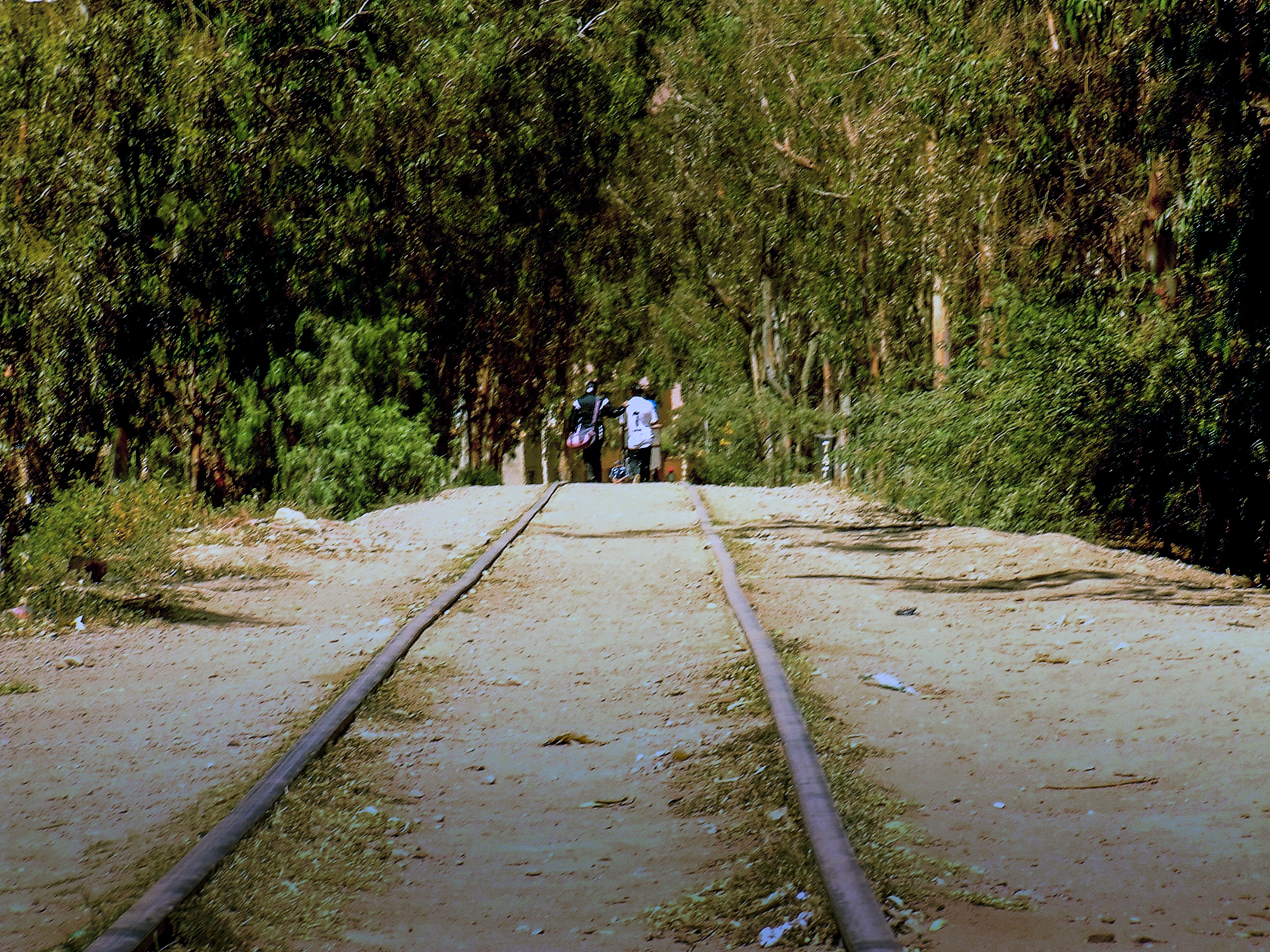 Caminando las vías Tupiza, Potosí, Bolivia