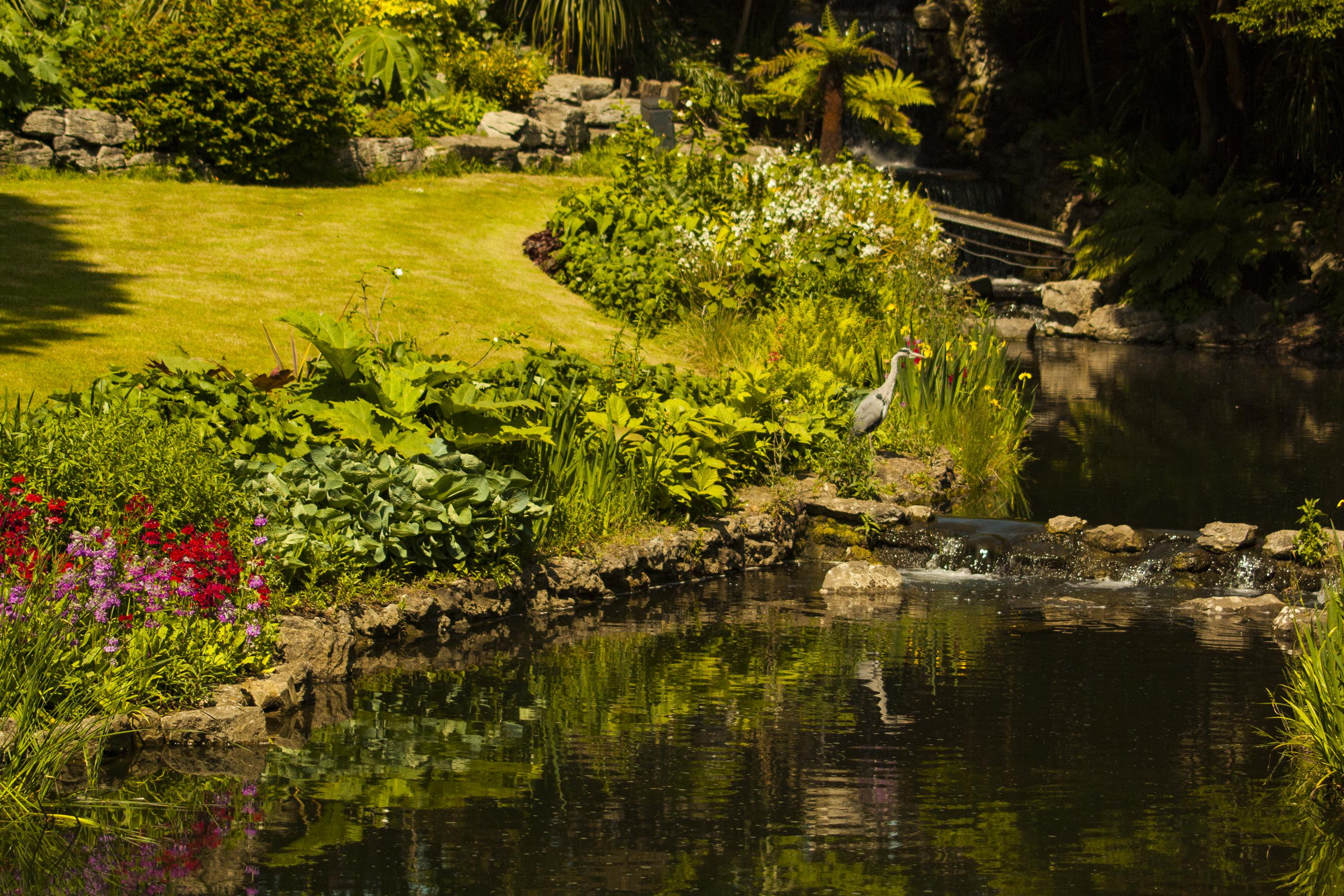 El estanque Hyde Park, Londres, UK