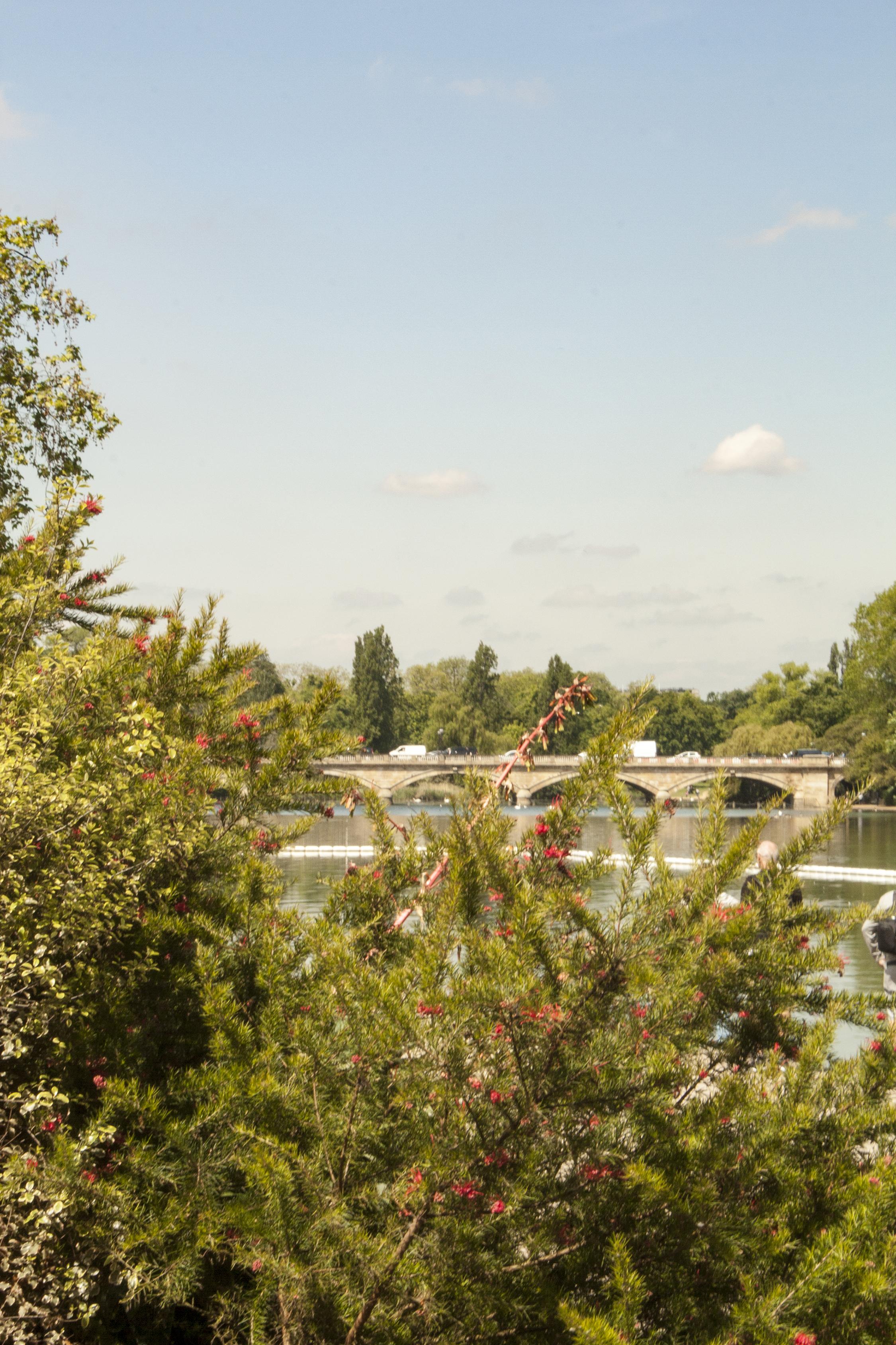 Vista del lago Londres, UK